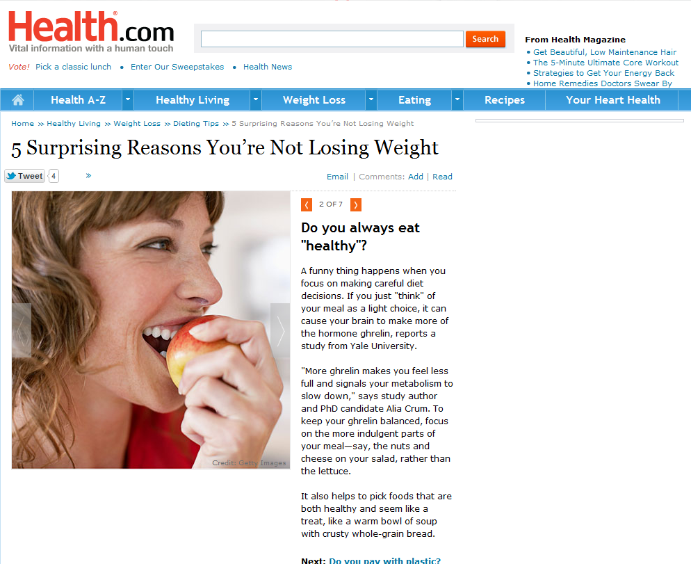5 Surprising Reasons You're Not Losing Weight2