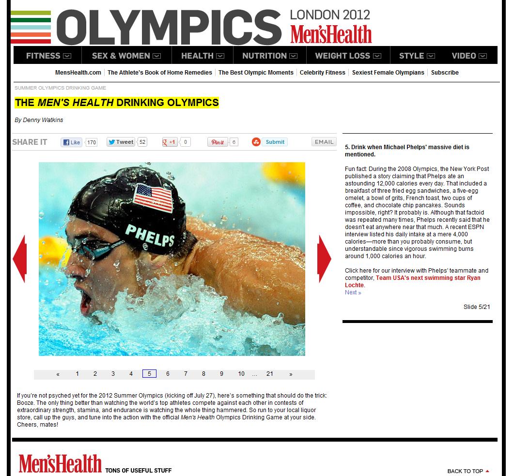 Drinking Olympics Phelps